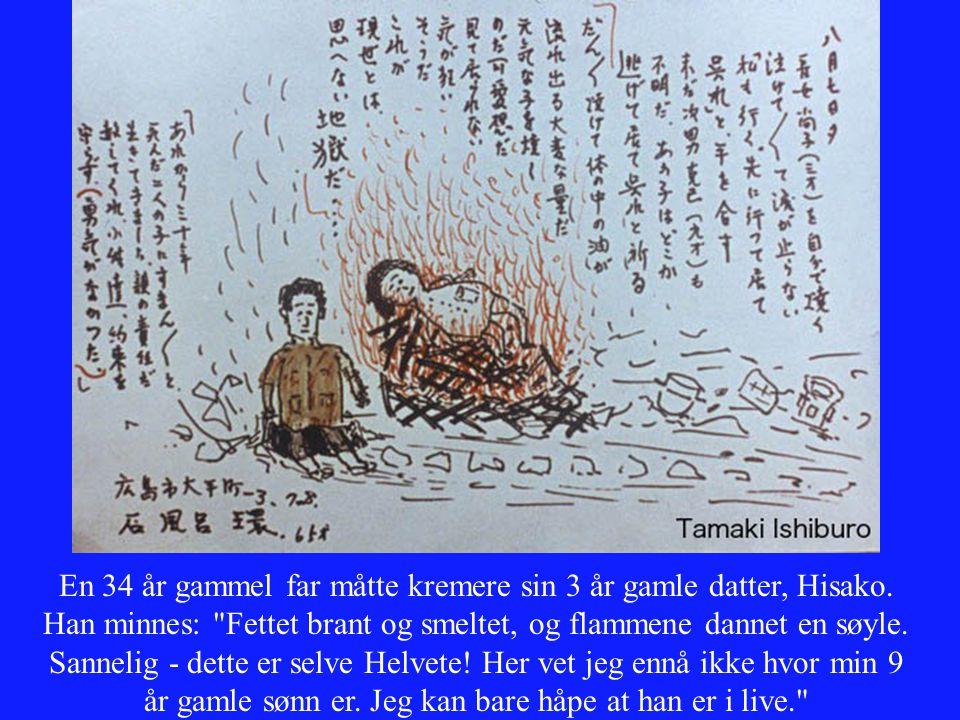 En 34 år gammel far måtte kremere sin 3 år gamle datter, Hisako. Han minnes: