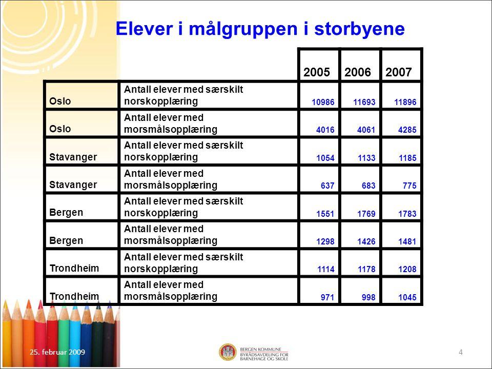 25.februar 200915 Faglig og sosial integrering Mener vi med den nye organiseringen er på god vei.