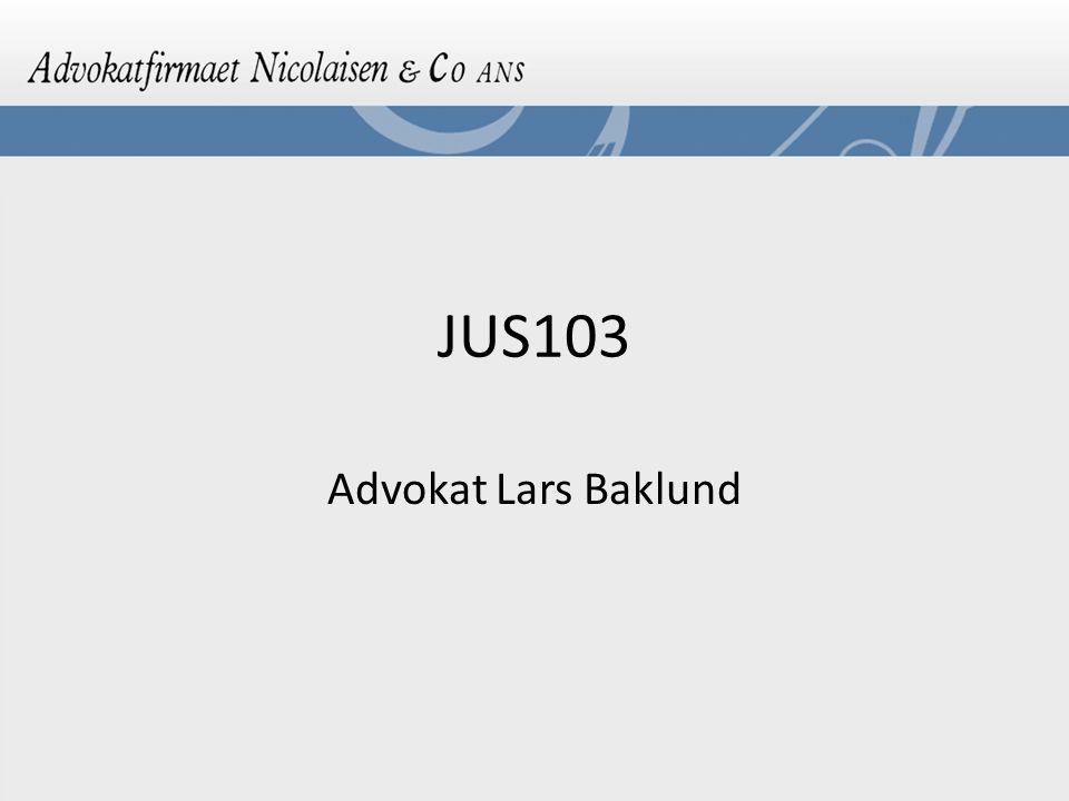 JUS103 Advokat Lars Baklund
