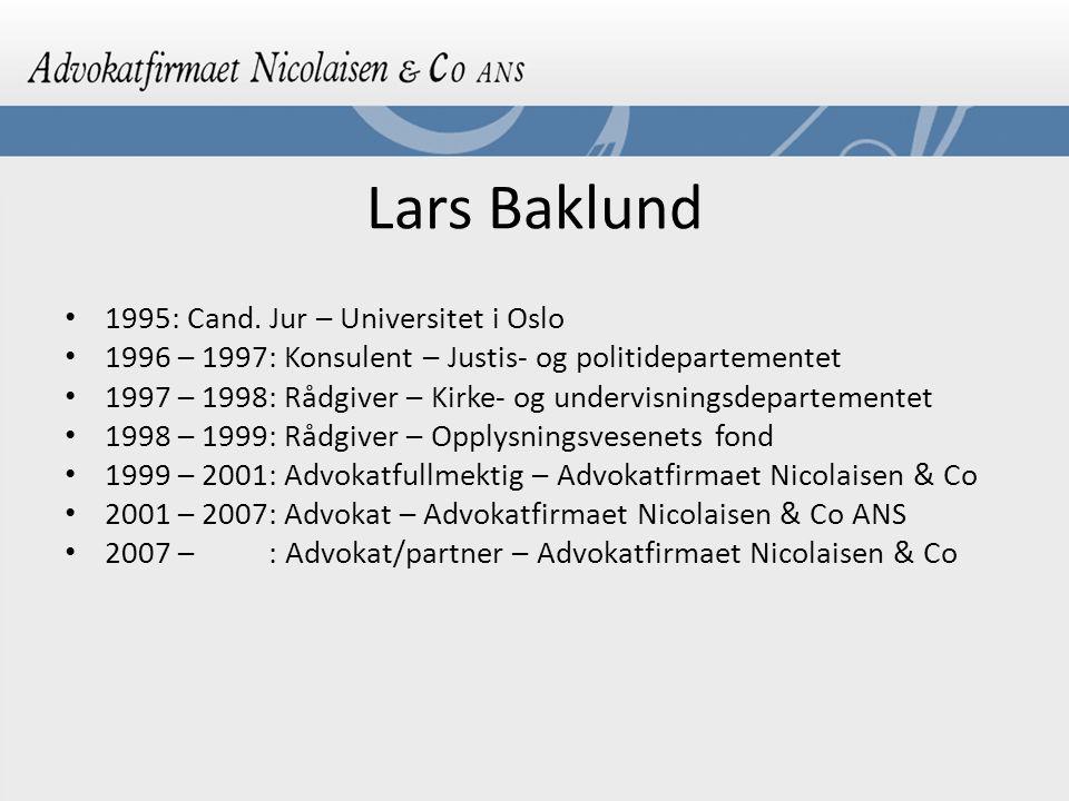 Lars Baklund 1995: Cand.