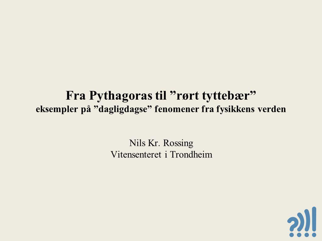 Fra Pythagoras til rørt tyttebær eksempler på dagligdagse fenomener fra fysikkens verden Nils Kr.