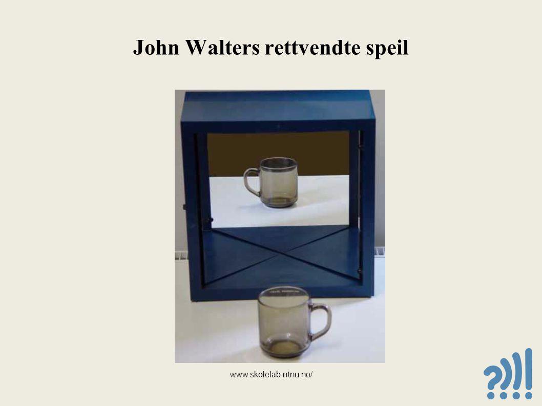 John Walters rettvendte speil www.skolelab.ntnu.no/