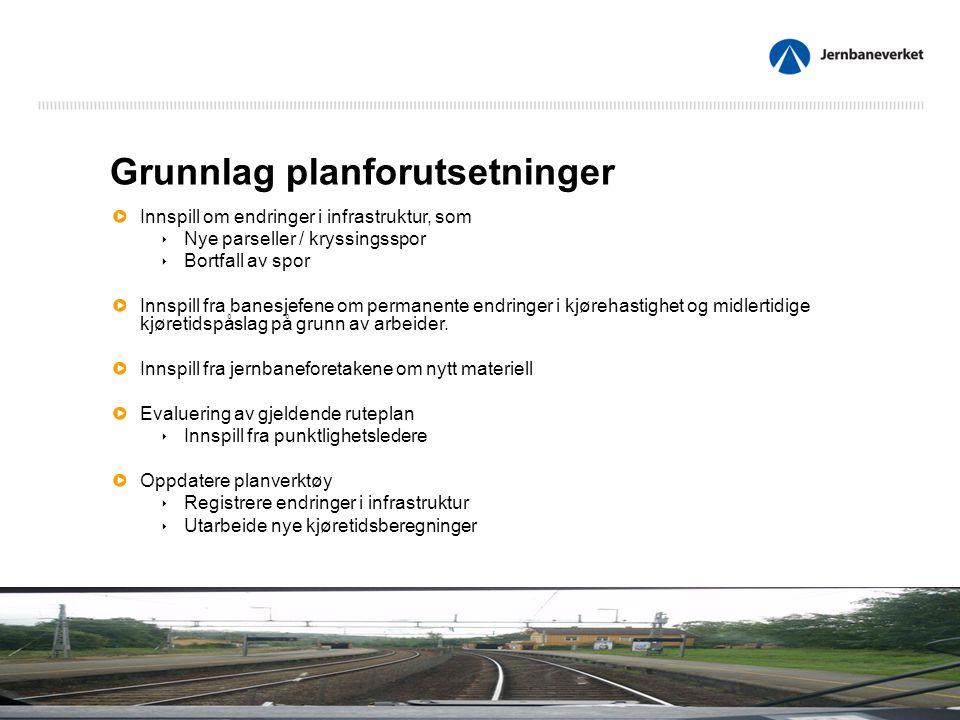 Rutetekniske planforutsetninger