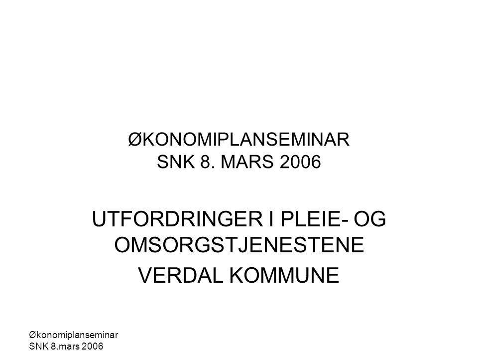Økonomiplanseminar SNK 8.mars 2006 ØKONOMIPLANSEMINAR SNK 8.