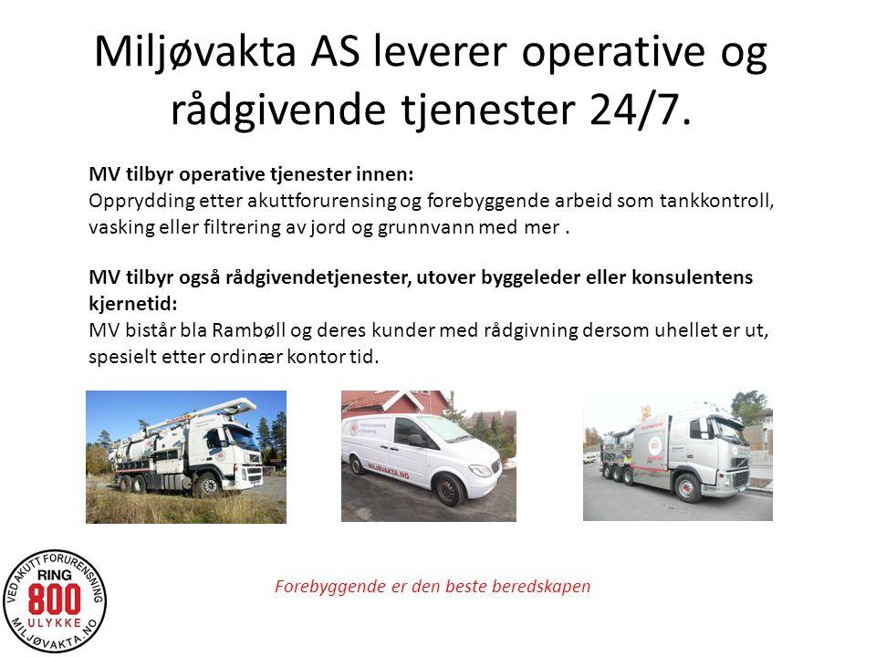 Miljøvakta AS leverer operative og rådgivende tjenester 24/7.
