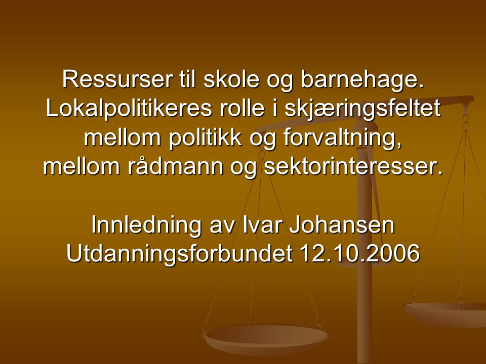 http://ivarjohansen.no Handlingsrommet Ressurser.Hva er det.