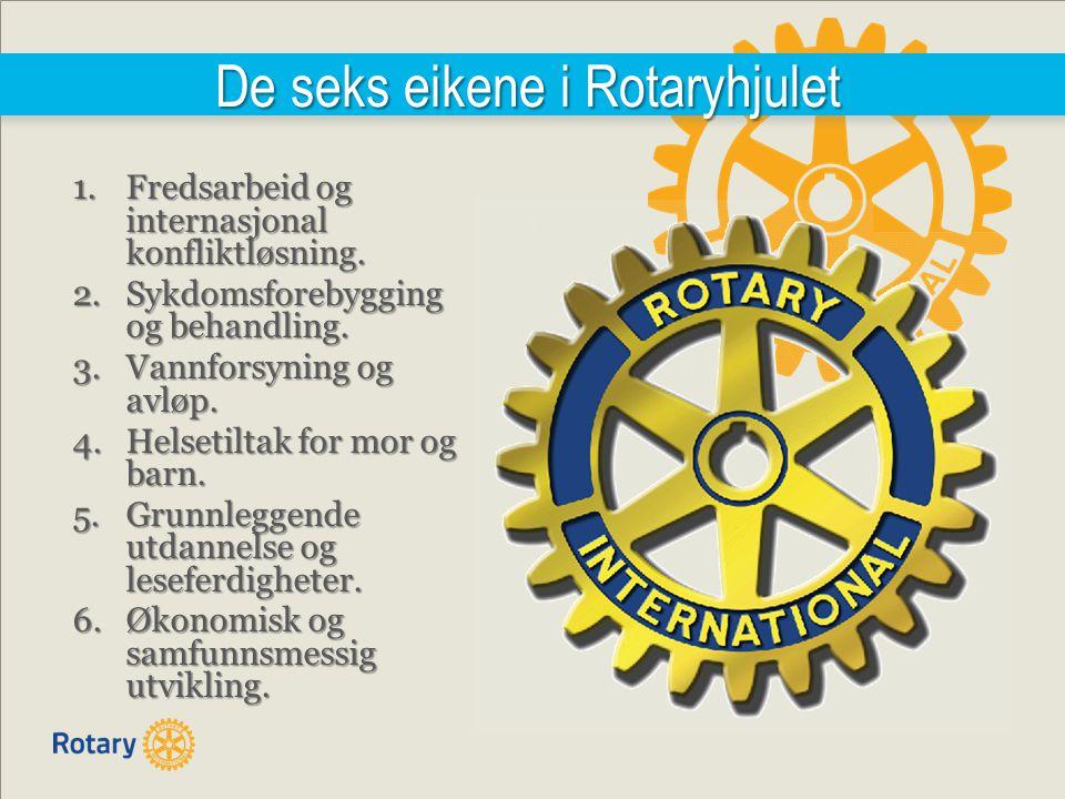 De seks eikene i Rotaryhjulet 1.Fredsarbeid og internasjonal konfliktløsning.