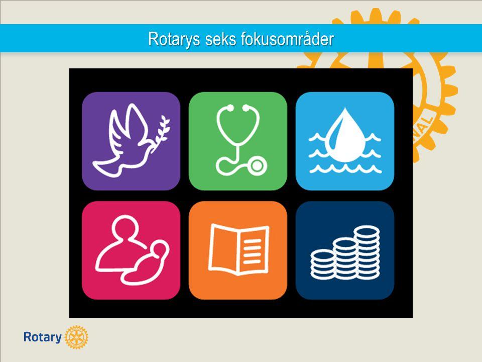 Rotarys seks fokusområder