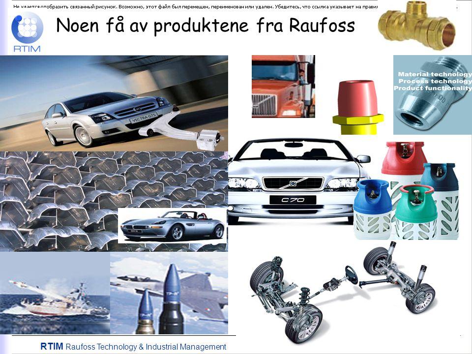 RTIM Raufoss Technology & Industrial Management Noen få av produktene fra Raufoss
