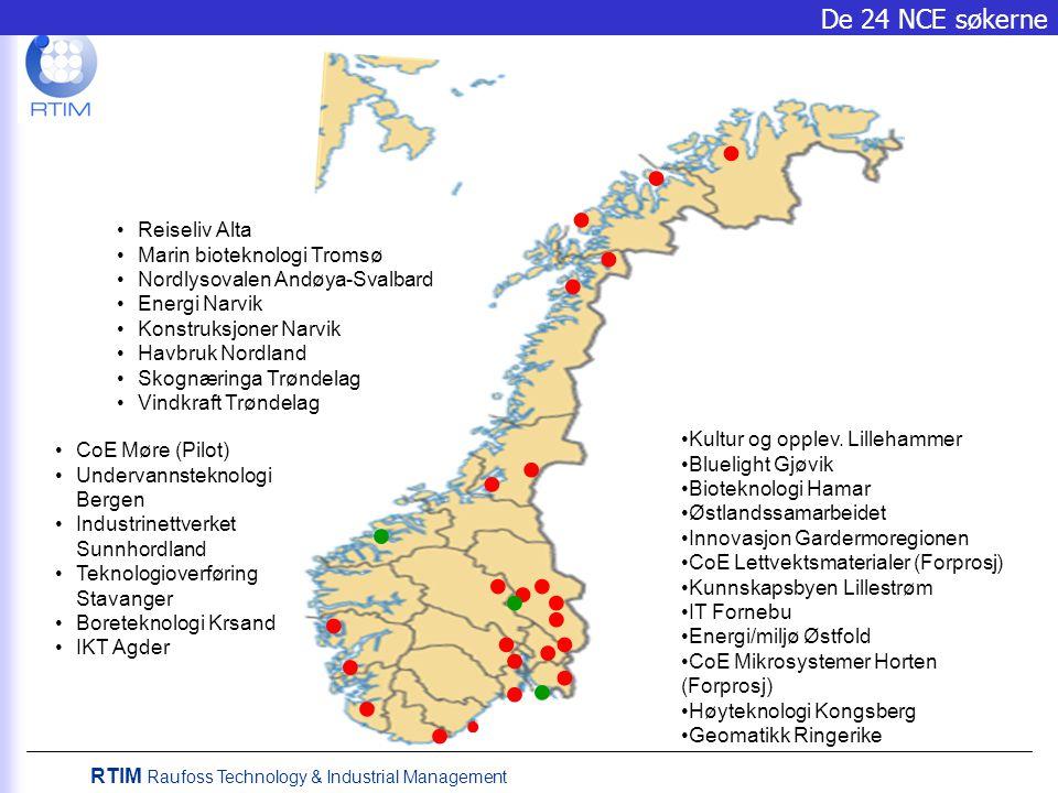 RTIM Raufoss Technology & Industrial Management 27. April 2006 Raufoss får NCE status