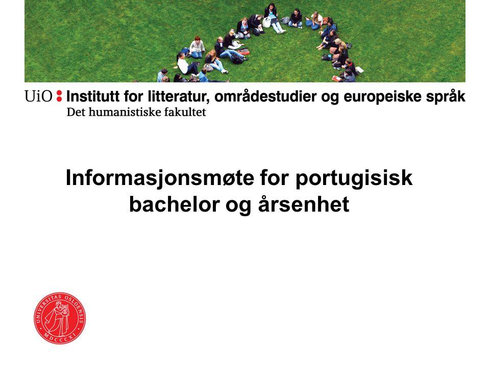 Informasjonsmøte for portugisisk bachelor og årsenhet