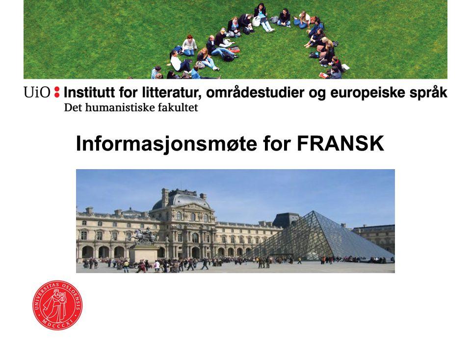 Informasjonsmøte for FRANSK