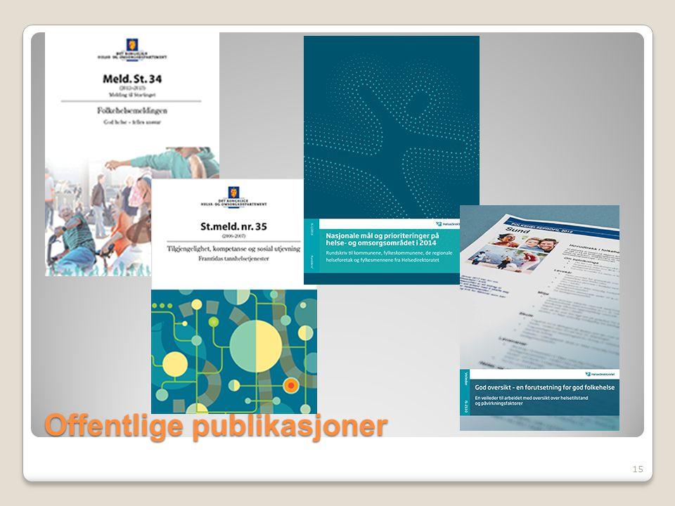 Offentlige publikasjoner 15