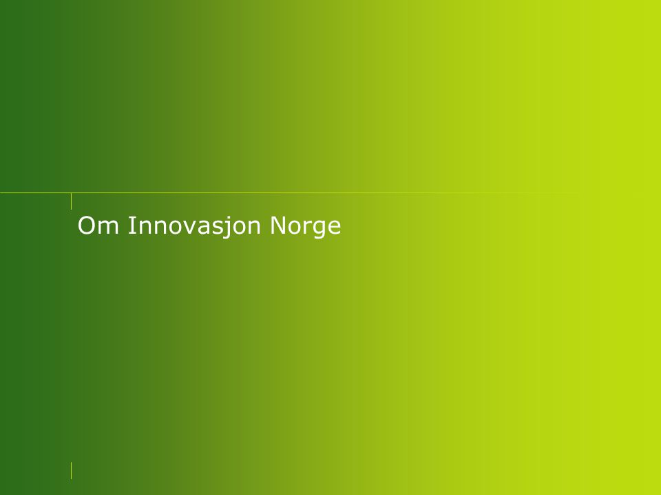 Om Innovasjon Norge