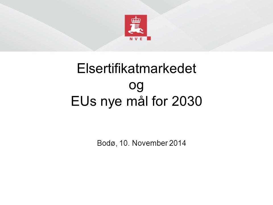 Norges vassdrags- og energidirektorat EUs nye 2030-mål ■ Et utslippsmål på minst 40 prosent kutt ■ Et styrket kvotehandelssystem (ETS) som det sentrale klimavirkemiddelet på EU-nivå ■ Et fornybarmål på minst 27 prosent på EU-nivå