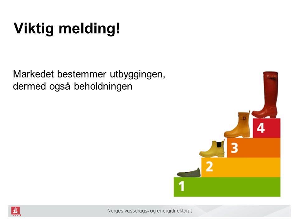 Norges vassdrags- og energidirektorat Viktig melding! Markedet bestemmer utbyggingen, og dermed også beholdningen