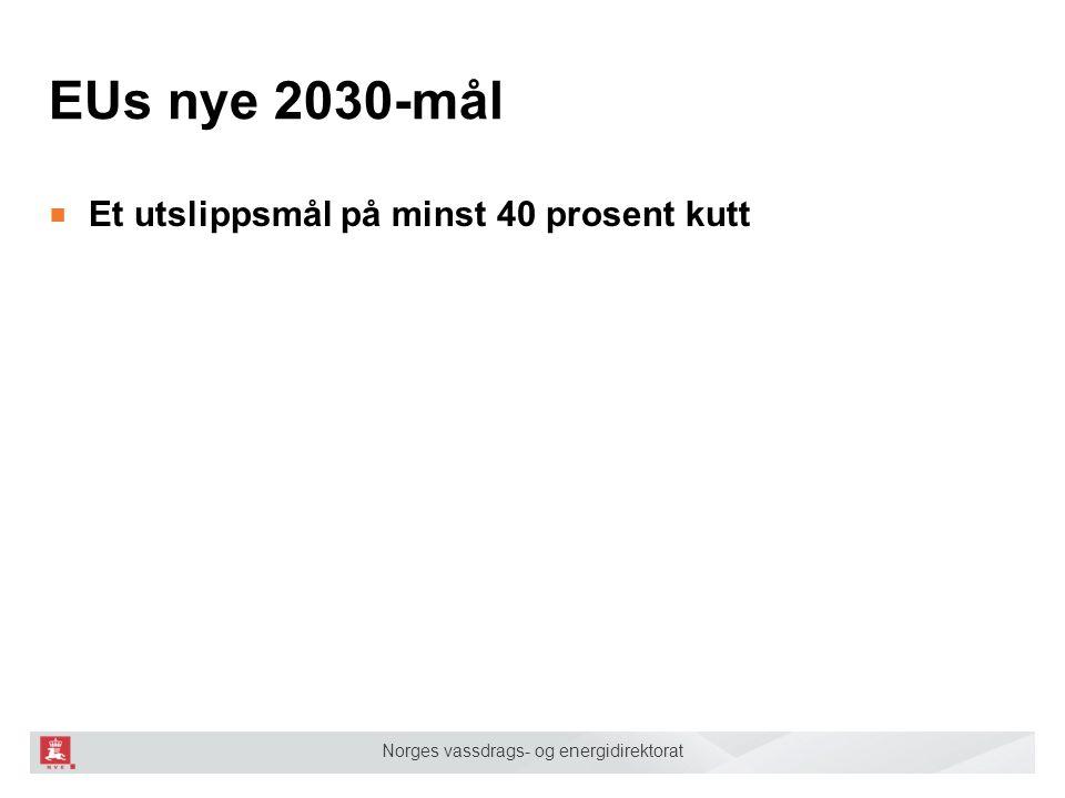 EUs nye 2030-mål ■ Et utslippsmål på minst 40 prosent kutt