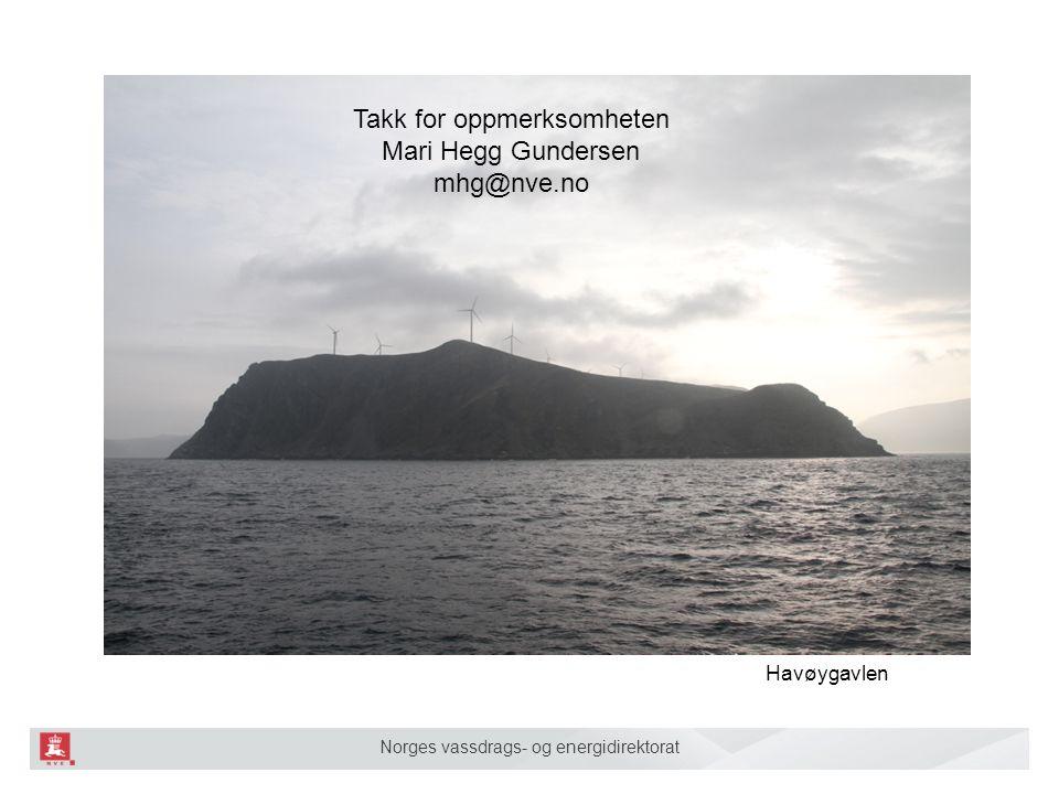 Norges vassdrags- og energidirektorat Havøygavlen Takk for oppmerksomheten Mari Hegg Gundersen mhg@nve.no