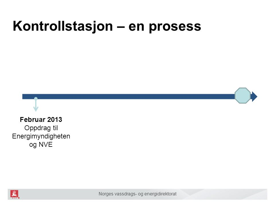 Norges vassdrags- og energidirektorat Kontrollstasjon – en prosess Februar 2013 Oppdrag Februar 2014