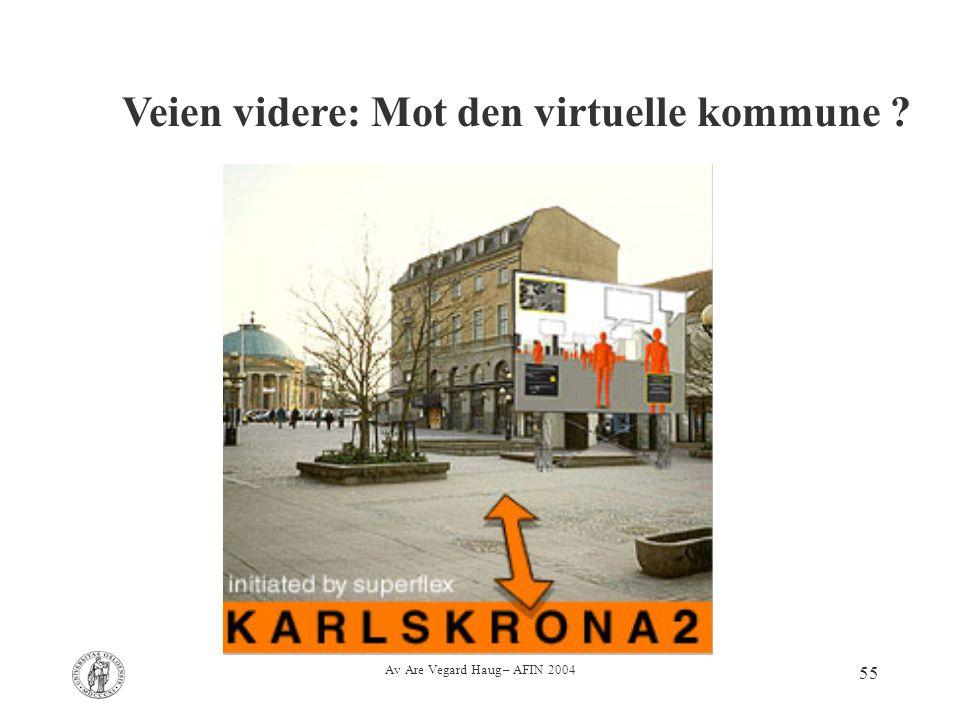 Av Are Vegard Haug – AFIN 2004 55 Veien videre: Mot den virtuelle kommune ?