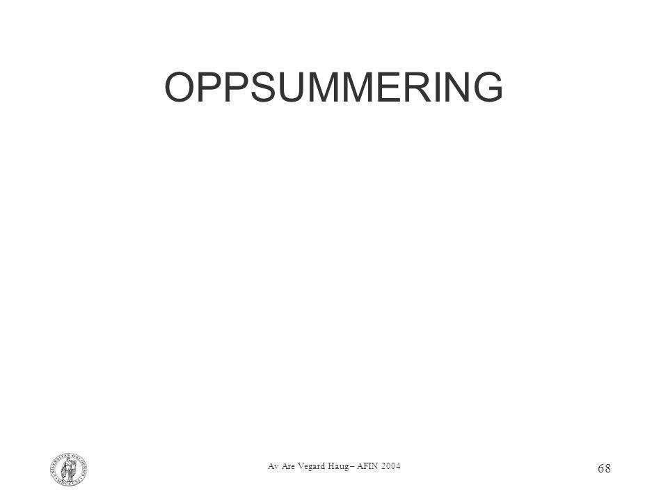 Av Are Vegard Haug – AFIN 2004 68 OPPSUMMERING