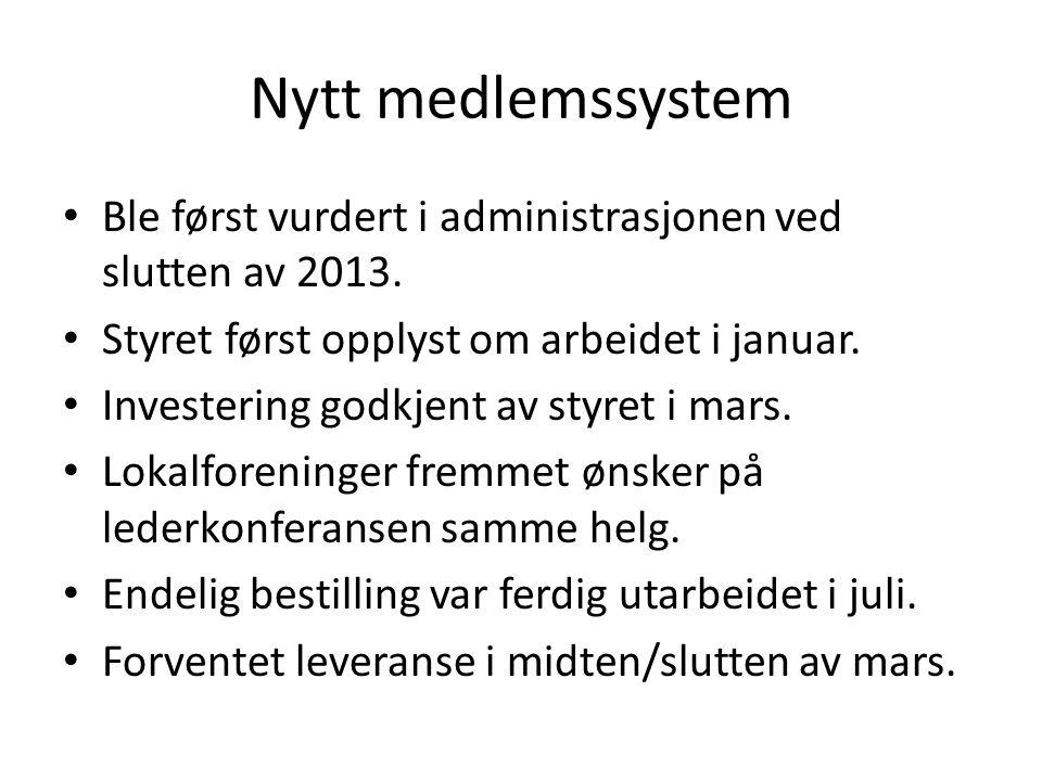 Ble først vurdert i administrasjonen ved slutten av 2013. Styret først opplyst om arbeidet i januar. Investering godkjent av styret i mars. Lokalforen