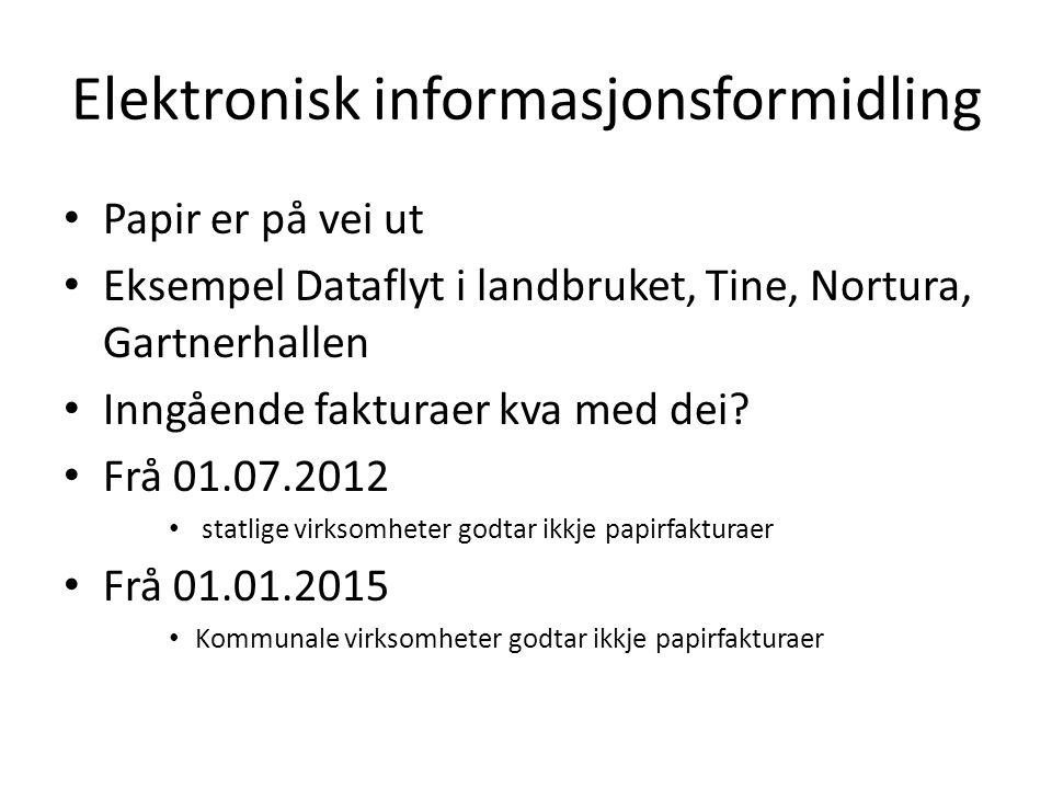 Autotrans (EHF) Utveksling av elektroniske transaksjoner.