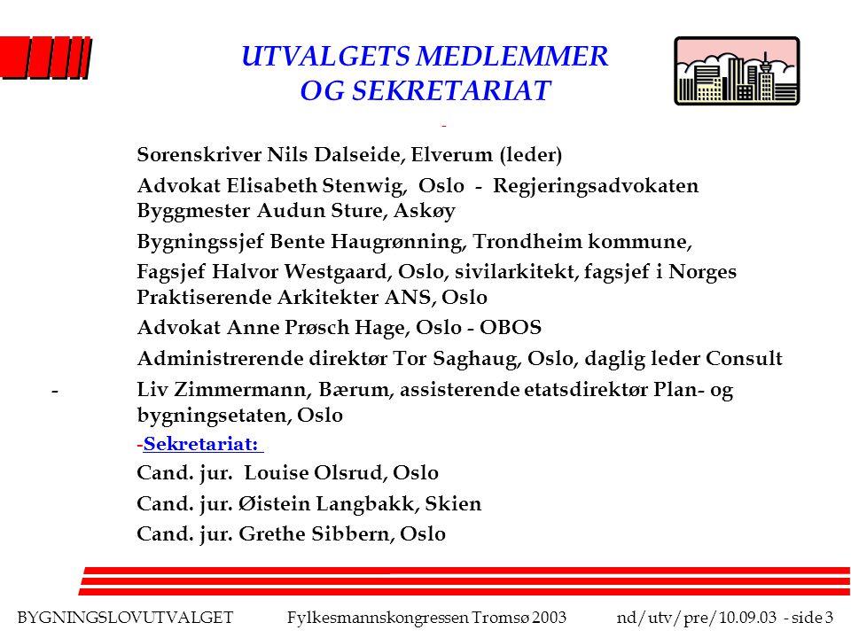 BYGNINGSLOVUTVALGETFylkesmannskongressen Tromsø 2003nd/utv/pre/10.09.03 - side 14 NOEN PROBLEMSTILLINGER VEDRØRENDE EFFEKTIVITET l Hva er effektivitet.