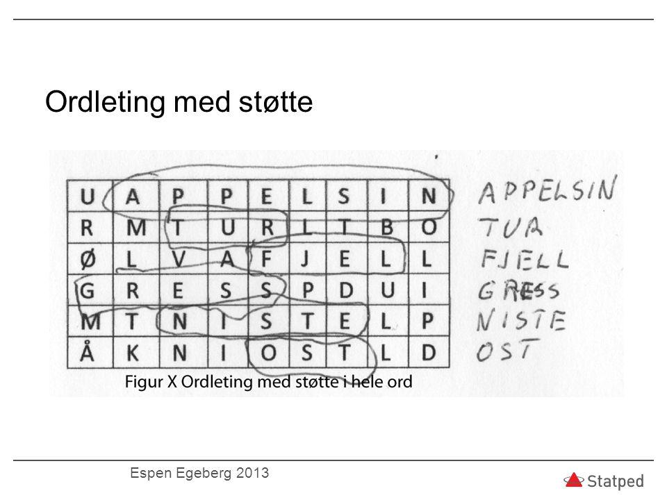 Ordleting med støtte Espen Egeberg 2013