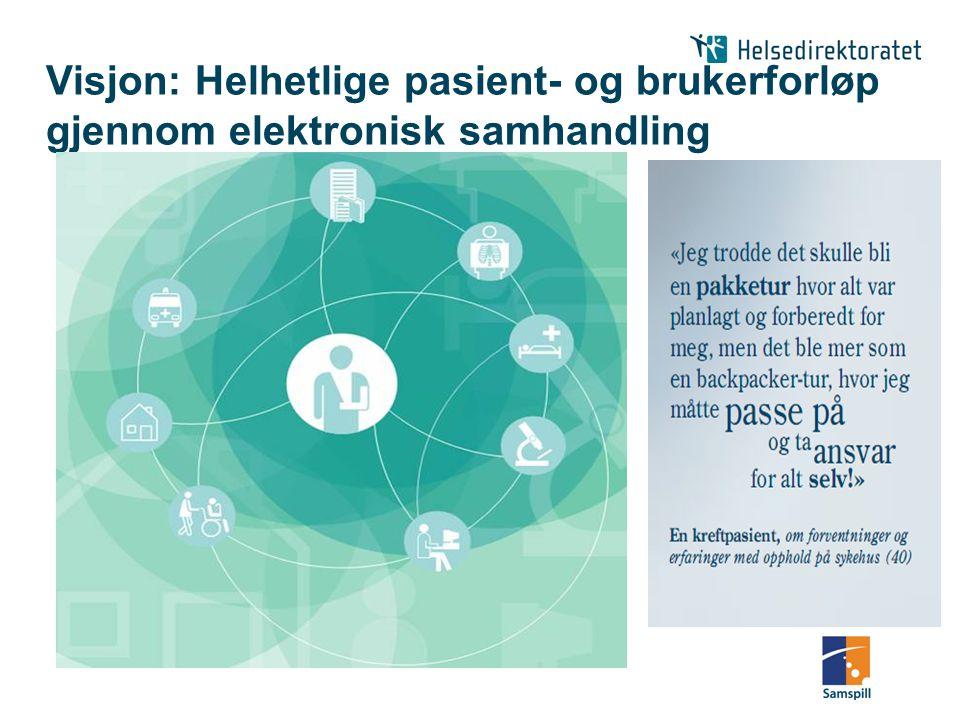 Visjon: Helhetlige pasient- og brukerforløp gjennom elektronisk samhandling