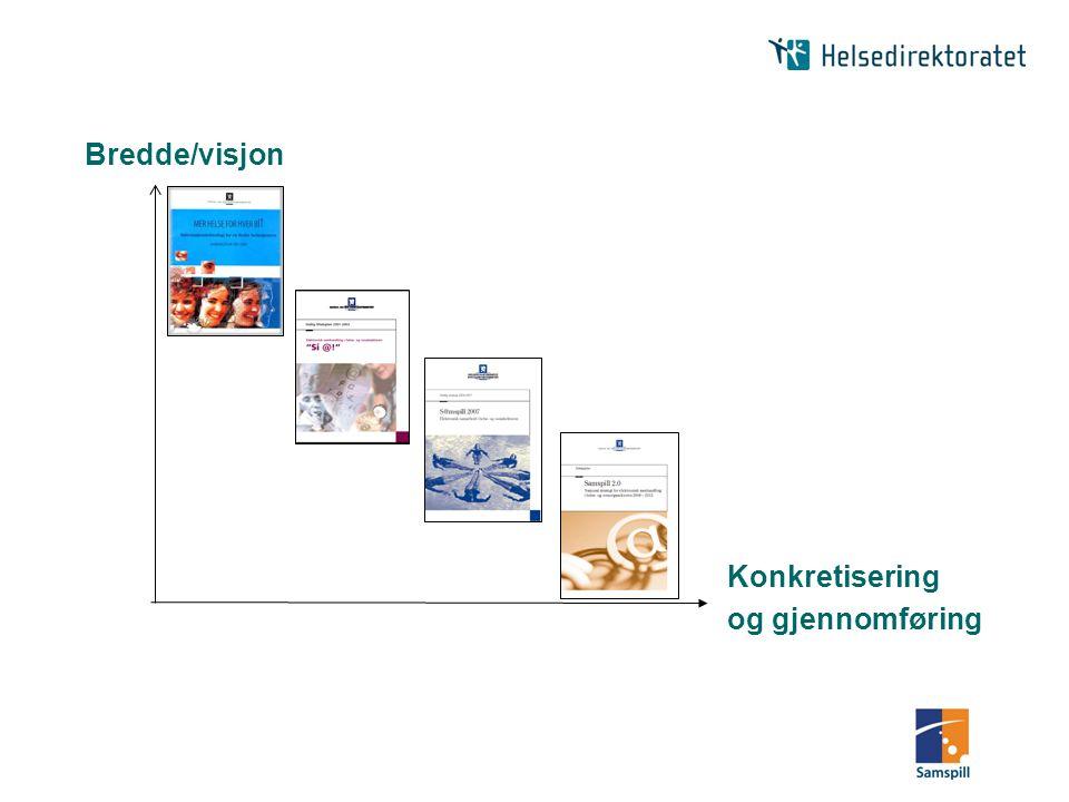 Bredde/visjon Konkretisering og gjennomføring