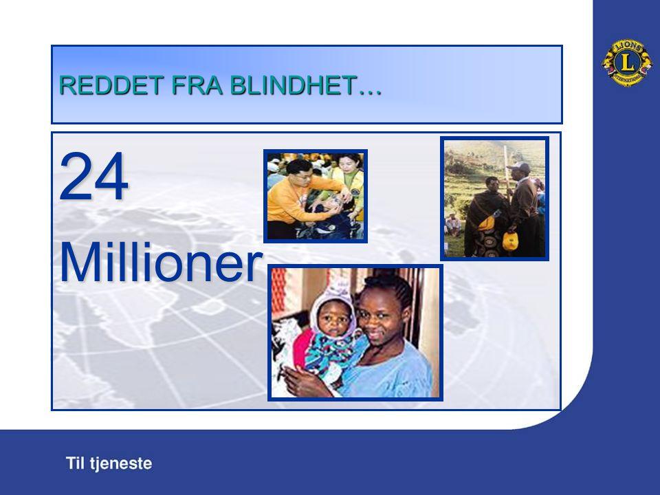 REDDET FRA BLINDHET … 24Millioner