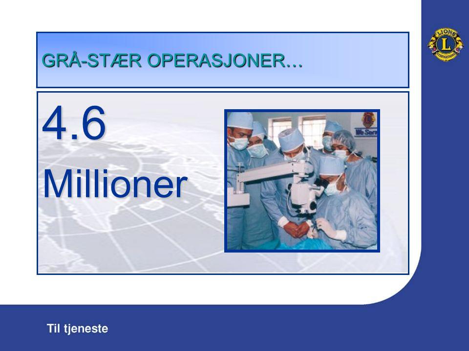 GR Å -ST Æ R OPERASJONER … 4.6Millioner