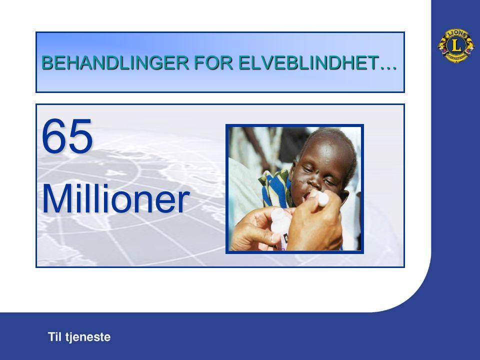BEHANDLINGER FOR ELVEBLINDHET … 65Millioner