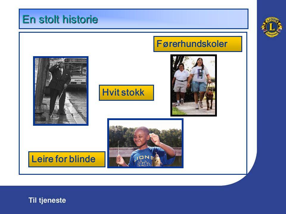 En stolt historie Hvit stokk Førerhundskoler Leire for blinde