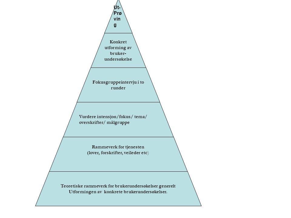 Tre undersøkelser i én Fordi ikke alle pasientene kan representere seg selv ► Tre parallelle undersøkelser: -En for pasienter som kan svare selv -En for pårørende/hjelpeverger -En for kommunalt ansatt personale