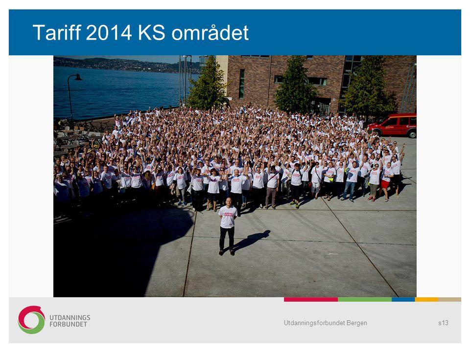 Tariff 2014 KS området Utdanningsforbundet Bergens13
