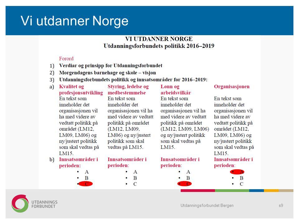 Tariff Utdanningsforbundet Bergens10 LønnArbeidstidPensjon