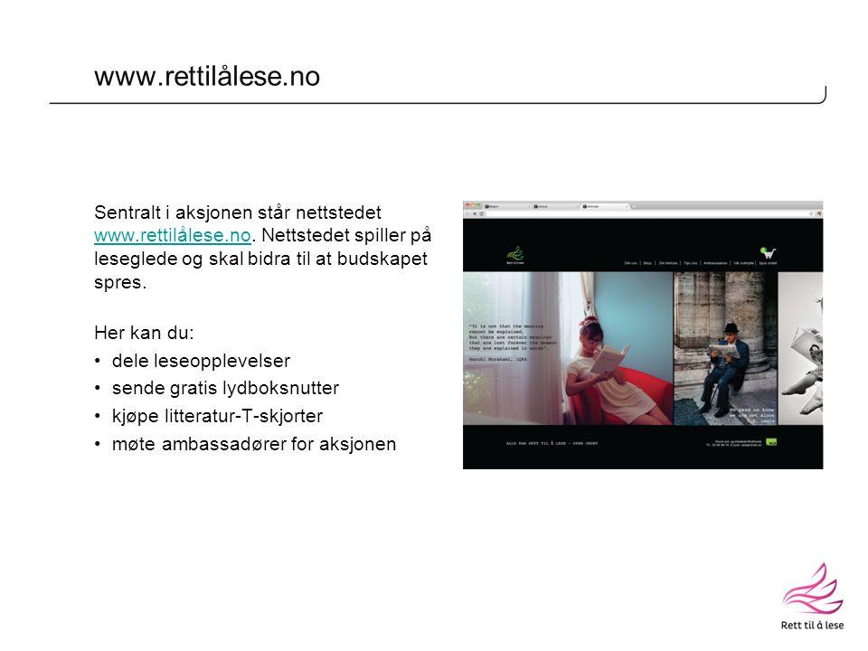 www.rettilålese.no Sentralt i aksjonen står nettstedet www.rettilålese.no.