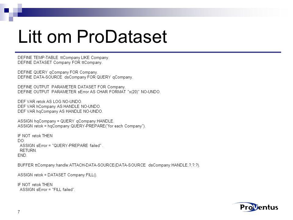 8 Klargjøring for.NET Kompilere 4GL-prosedyrene Bruke Proxy Generator  Generere for.NET