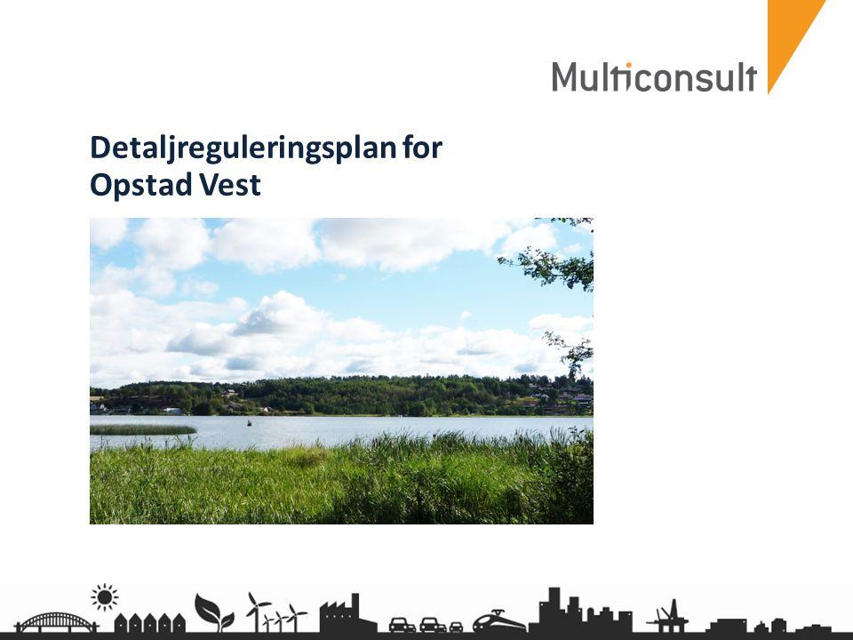 multiconsult.no 22 Venstresvingfelt Trafikkutredningen anbefalte bygging av venstresvingfelt i Opstadveien.