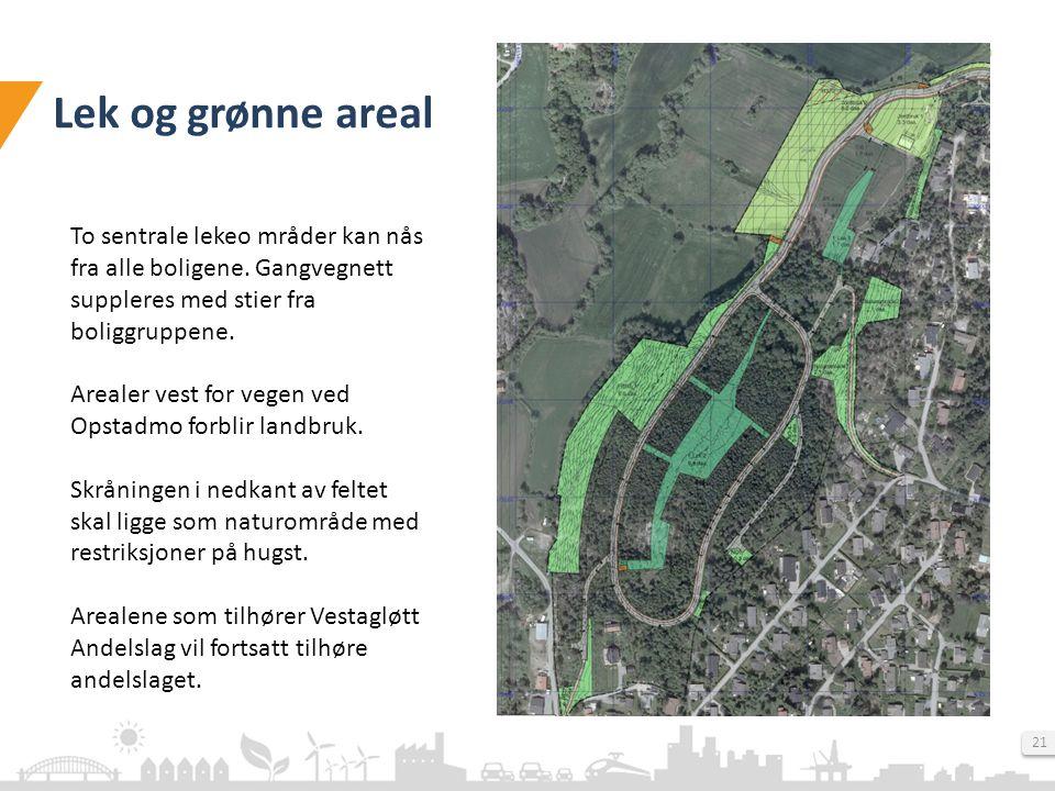 multiconsult.no 21 Lek og grønne areal To sentrale lekeo mråder kan nås fra alle boligene.