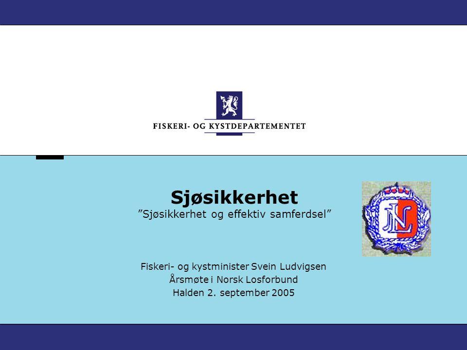Verdier fra havet – Norges framtid Sjøtransporten Viktig i et bredt samfunnsperspektiv: Sjøveien er en viktig kommunikasjonsåre.