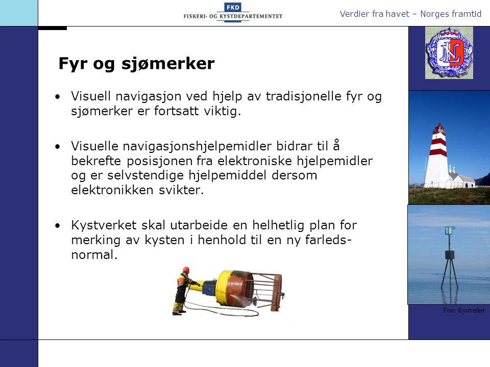 Verdier fra havet – Norges framtid Lostjenester Lostjenesten bidrar til å forebygge grunnstøtninger og kollisjoner.