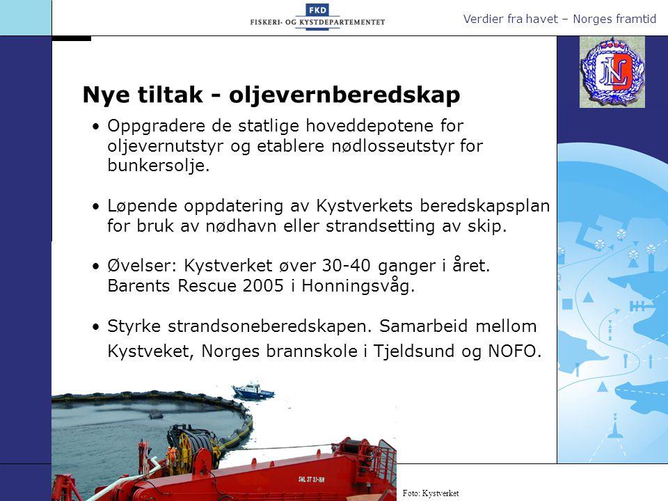 Verdier fra havet – Norges framtid Slepebåtkapasitet Tilstrekkelig slepebåtkapasitet er et sentralt element i beredskapen.