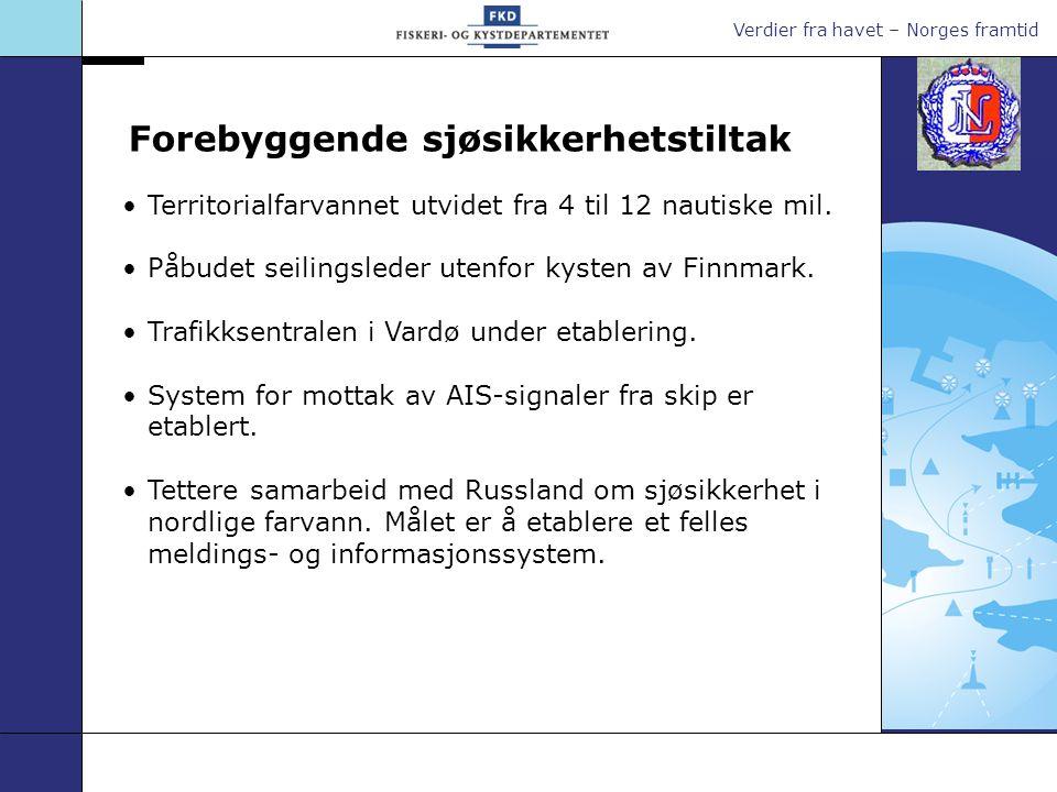 Verdier fra havet – Norges framtid Trafikksentralen i Vardø operativ i 2007.