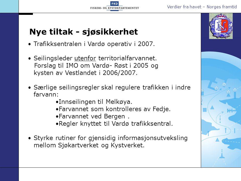Verdier fra havet – Norges framtid Fyr og sjømerker Visuell navigasjon ved hjelp av tradisjonelle fyr og sjømerker er fortsatt viktig.