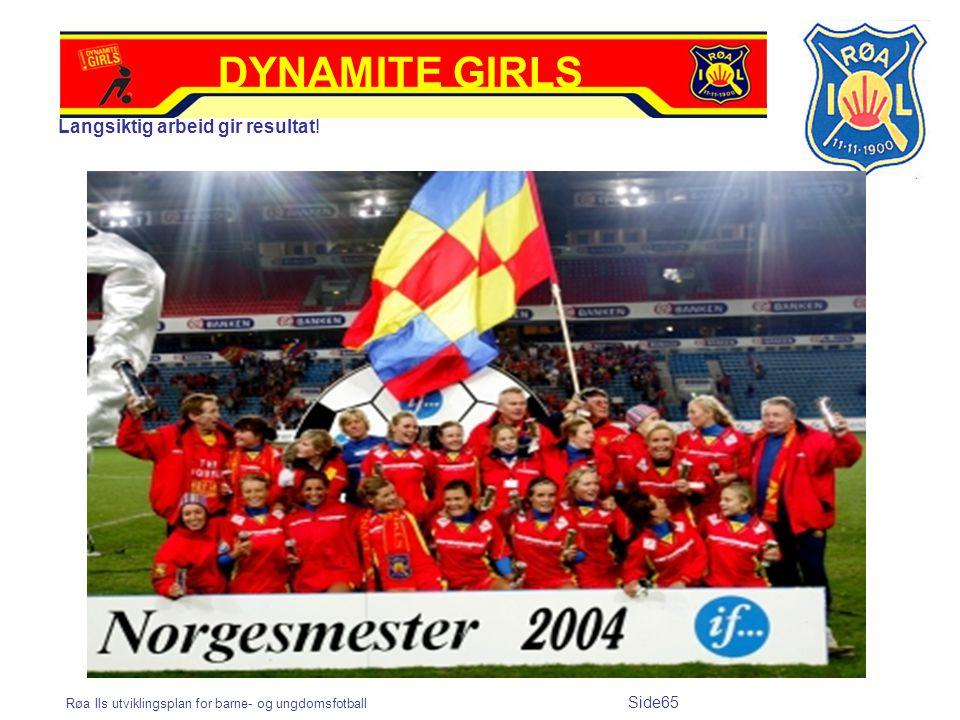 Røa Ils utviklingsplan for barne- og ungdomsfotball Side65 Langsiktig arbeid gir resultat! DYNAMITE GIRLS