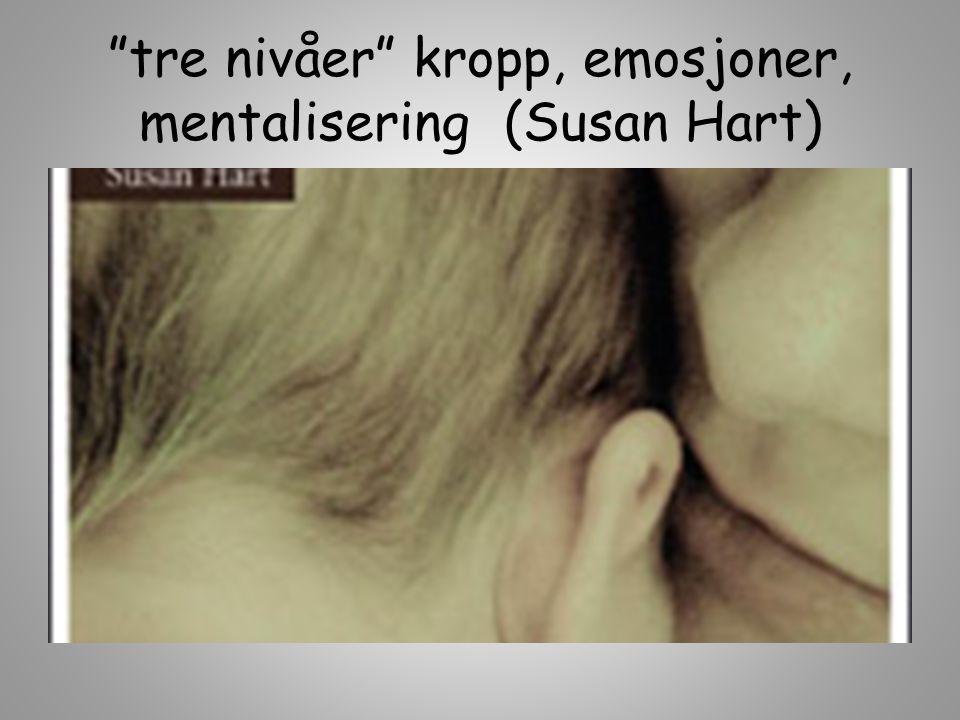 """""""tre nivåer"""" kropp, emosjoner, mentalisering (Susan Hart)"""