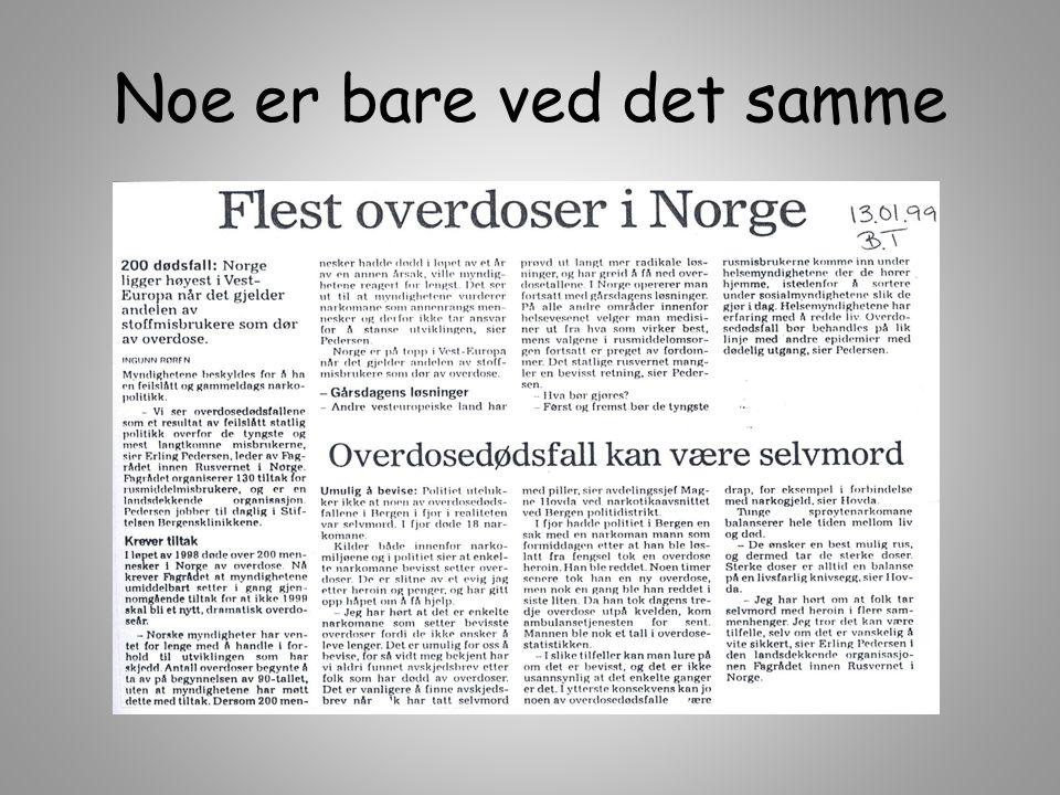 Gladnyheter fra Bergen – resten av landet, men..Færre som røyker Færre 8.